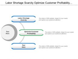 Labor Shortage Scarcity Optimize Customer Profitability Center Expertise