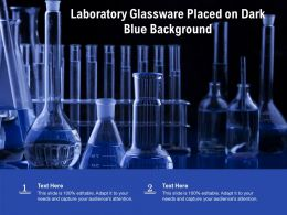 Laboratory Glassware Placed On Dark Blue Background
