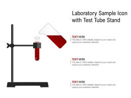 Laboratory Sample Icon With Test Tube Stand