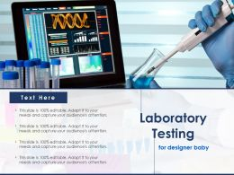 Laboratory Testing For Designer Baby