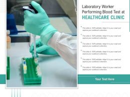Laboratory Worker Performing Blood Test At Healthcare Clinic
