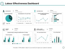 Labour Effectiveness Dashboard Ppt Powerpoint Presentation Diagram Lists