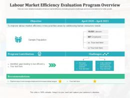 Labour Market Efficiency Evaluation Program Overview