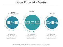 Labour Productivity Equation Ppt Powerpoint Presentation Deck Cpb