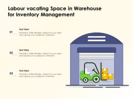 Labour Vacating Space In Warehouse For Inventory Management