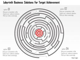 Labyrinth Business Solutions For Target Achievement Flat Powerpoint Design