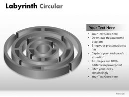 Labyrinth Circular Powerpoint Presentation Slides