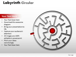Labyrinth Circular red
