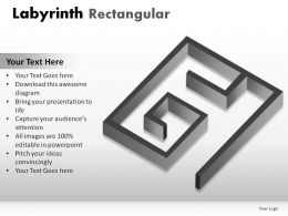 Labyrinth Rectangular Powerpoint Presentation Slides