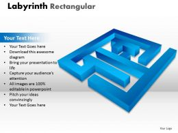 Labyrinth Rectangular ppt 13 blue modal