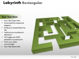 Labyrinth Rectangular ppt 14 green modal