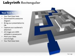 Labyrinth Rectangular ppt 15 diagram
