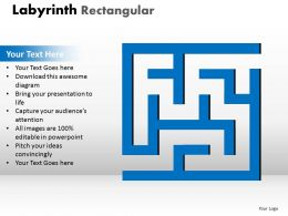 Labyrinth Rectangular ppt blue modal