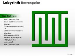 Labyrinth Rectangular ppt Green modal