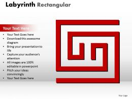 Labyrinth Rectangular ppt red modal
