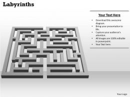 Labyrinths Powerpoint Template Slide