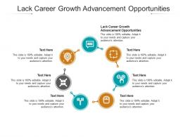 Lack Career Growth Advancement Opportunities Ppt Powerpoint Presentation Infographics Cpb