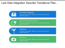 Lack Data Integration Describe Transitional Files System Identify Problem
