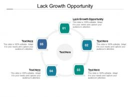 Lack Growth Opportunity Ppt Powerpoint Presentation Icon Templates Cpb