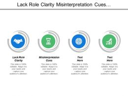 Lack Role Clarity Misinterpretation Cues Communication Style Conventional Thinking