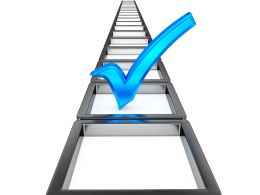 ladder_graphic_with_blue_tickmark_stock_photo_Slide01