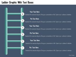 ladder_graphic_with_text_boxes_flat_powerpoint_design_Slide01