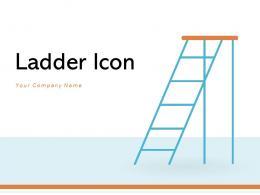 Ladder Icon Depicting Individual Construction Illustrating Progress Development