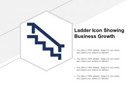 Ladder Icon Showing Business Growth