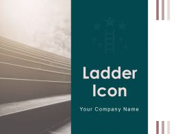 Ladder Icon Success Business Growth Construction Metallic Airport Career