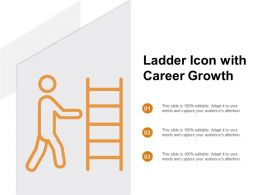 Ladder Icon With Career Growth