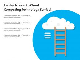 Ladder Icon With Cloud Computing Technology Symbol