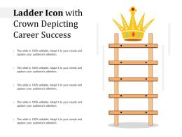 Ladder Icon With Crown Depicting Career Success