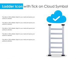 Ladder Icon With Tick On Cloud Symbol