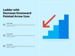 Ladder With Decrease Downward Pointed Arrow Icon