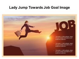 Lady Jump Towards Job Goal Image