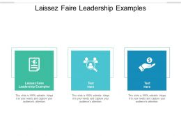 Laissez Faire Leadership Examples Ppt Powerpoint Presentation Slides Cpb