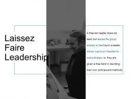 Laissez Faire Leadership Ppt Powerpoint Presentation Inspiration Mockup