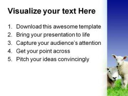 Lamb Animals PowerPoint Template 0910  Presentation Themes and Graphics Slide03