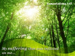 Lamentations 1 12 Suffering That Was Inflicted On Me Powerpoint Church Sermon