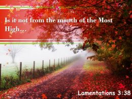 Lamentations 3 38 Is It Not From The Mouth Powerpoint Church Sermon