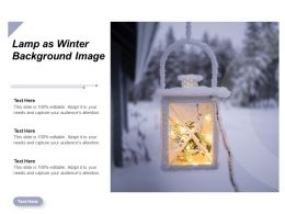 Lamp As Winter Background Image