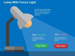Lamp With Focus Light Flat Powerpoint Design