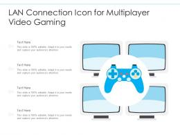 LAN Connection Icon For Multiplayer Video Gaming
