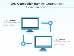 LAN Connection Icon For Organization Communication