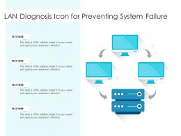 LAN Diagnosis Icon For Preventing System Failure