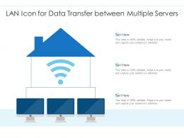 LAN Icon For Data Transfer Between Multiple Servers