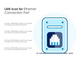 LAN Icon For Ethernet Connection Port