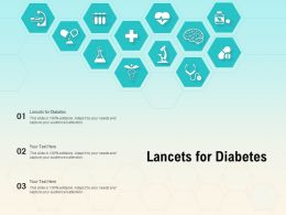 Lancets For Diabetes Ppt Powerpoint Presentation Inspiration Examples