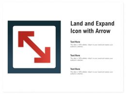 Land And Expand Icon With Arrow