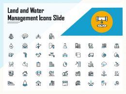 Land And Water Management Icons Slide Ppt Powerpoint Presentation Icon Format Ideas